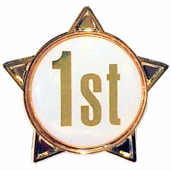 1st titled star shape badge